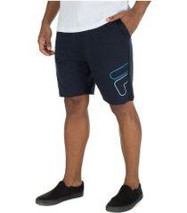 bermuda fila summer sports - masculina - azul escuro