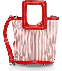 the cleo square handle tote bag