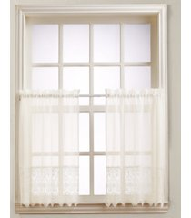 "closeout! joy lace 60"" x 36"" pair of tier curtains"