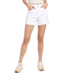 women's paige margot denim shorts, size 24 - white