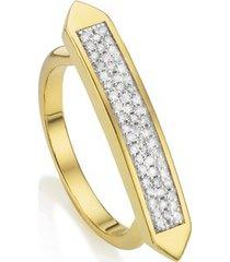 gold baja skinny ring diamond