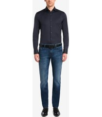 boss men's regular/classic-fit 11-oz. stretch cotton jeans