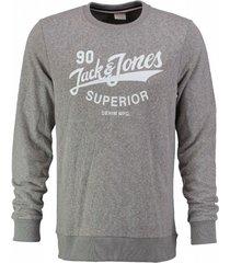 jack & jones zachte grijze slim fit sweater valt kleiner