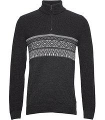 steffen knitwear half zip jumpers grå brax