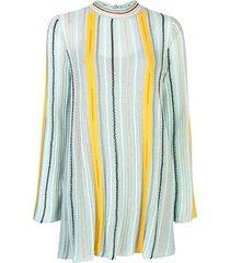 m missoni striped jumper dress - green