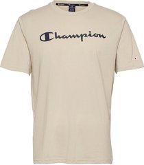 crewneck t-shirt t-shirts short-sleeved beige champion