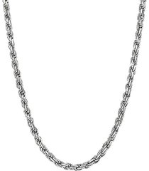 basic sterling silver rope chain necklace/24""