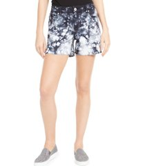 inc tie-dyed denim shorts, created for macy's