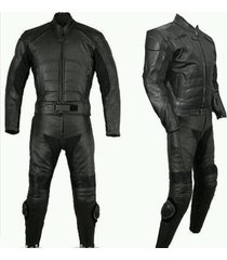 mens black bike racing motorcycle leather suit leather jacket & pants xs to 6xl