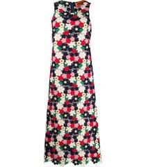 colville floral crochet maxi dress - blue