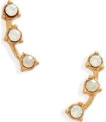 women's madewell opalesent gemline stud earrings