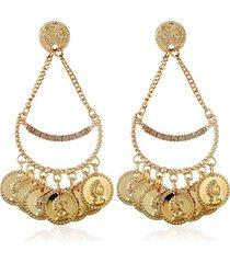 aretes dorados monedas sasmon ar-11465