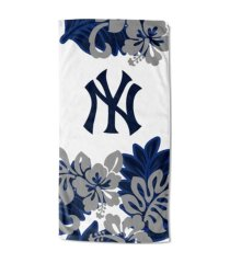 "northwest company new york yankees 30x60 ""flower power"" beach towel"