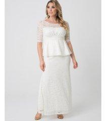 kiyonna women's plus size poised peplum gown