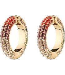 lili rainbow pavé crystal cuff earrings