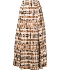 barena abstract print culottes - brown