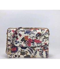 nwt tory burch parker floral convertible large shoulder bag