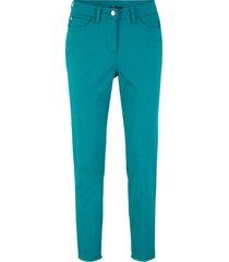 pantaloni cropped con frange al fondo (blu) - bpc bonprix collection