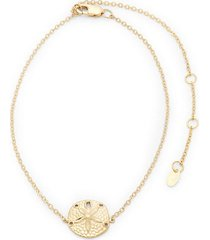 14k yellow gold adjustable anklet