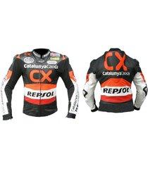 honda motorbike leather jacket motorcycle jacket racing biker all size