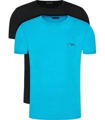 t-shirt korte mouw armani 2-pack blauw/zwart tee