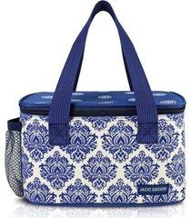 (bella vitta) bolsa térmica com compartimento rede na lateral azul