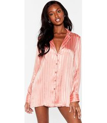womens it's been a jacquard day pajama night dress - rose gold