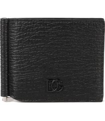dolce & gabbana black leather logo plate