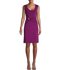 drape-front dress