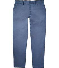 river island mens blue slim fit chino pants