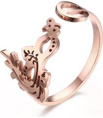 anello regolabile in oro rosa con anelli a forma di dito, gioielli in oro per uomo