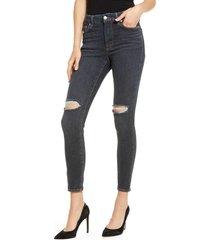 women's good american always fits skinny jeans, size 14-18 - blue