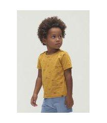 camiseta hering manga curta de algodão flamê toddler amarelo
