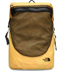 waterproof rolltop rugzak tas geel the north face