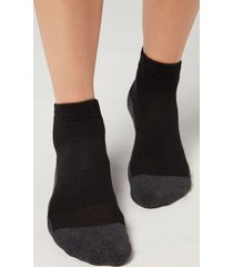 calzedonia unisex ultra-short sport socks man black size 41-43