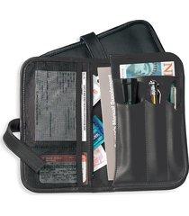 royce new york men's glove box organizer gift set - black