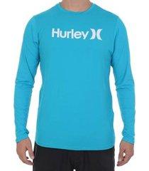 hurley camiseta lycra hurley tee 0&0 - masculino