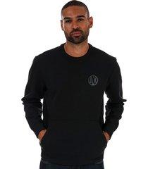mens placed print colourblock sweatshirt