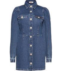 larin dresses jeans dresses blå custommade