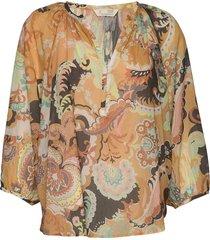 positano blouse blus långärmad multi/mönstrad odd molly