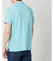 polo ralph lauren men's mesh knit slim fit polo shirt - watchhill blue heather - xl