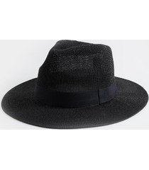 benney panama tonal band hat - black