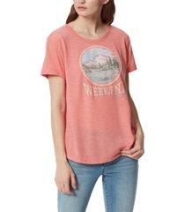 frayed carleigh weekend graphic t-shirt