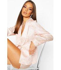 jacquard blazer, pink