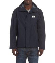 men's helly hansen seven j waterproof & windproof jacket, size xx-large - blue