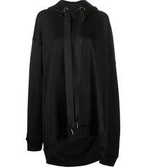 marques'almeida oversized jersey hoodie - black