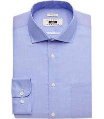 joseph abboud light blue woven dot modern fit dress shirt