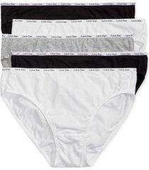 calvin klein 5-pk. cotton-blend bikini qp1094m