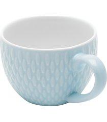 conjunto 6 xícaras de porcelana p/café candy azul 90ml