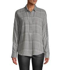 bar plaid popover shirt
